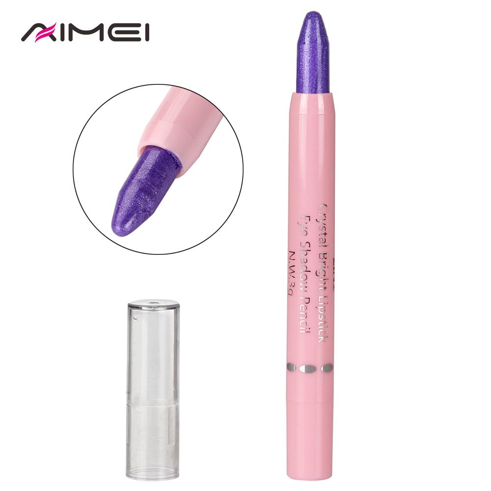 Aimei-1ピースレディ紫目アイライナークリスタルアイシャドウ鉛筆長持ち防水アイシャドウクリーム化粧ペンスティック9色